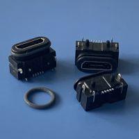 MICRO B型防水母座 MK-5P/180度贴板防水插座 迈克贴片SMT防水插座 IP67防水插座