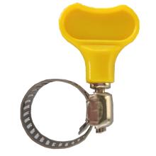 供应黄色塑料手柄美式喉箍 手柄式小美喉箍