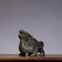 福建惠安石雕龙龟招财镇宅风水青石池塘石头龙龟摆件动物雕塑