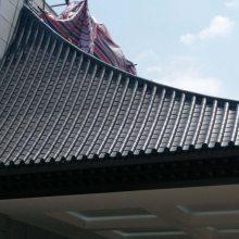 尚典直销新型高分子仿古一体瓦中式屋顶檐装饰塑料青瓦门头古建围墙琉璃瓦片