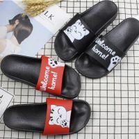 新款韩版卡通招手猫情侣塑料拖鞋男女室内家居洗澡防滑浴室凉拖
