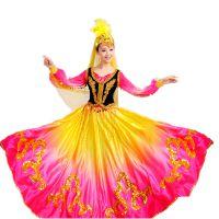 jSH维五尔族舞蹈服新疆舞蹈演出服儿童少数民族服装女女孩民族风