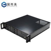 服务器机箱2u工控机箱6个热插拔硬盘位 含温控屏4个半高PCI直插槽