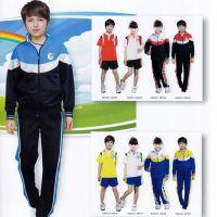 厂家批发定做中学生校服运动服优质棉面