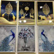 8D玻璃浴室柜彩绘机 浮雕玻璃装饰画彩绘机