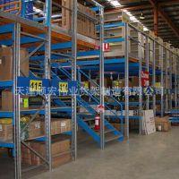 石家庄重型阁楼平台式货架仓库库房厂房钢制货架楼梯分层式货架