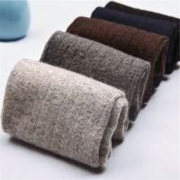 经典休闲男士兔羊毛袜 商务秋冬季加厚纯色男袜中筒保暖袜子