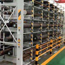 长春伸缩式悬臂货架价格 工厂直销质量可靠 钢管存取机械操作