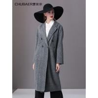 楚贝尔韩版毛呢外套女2018秋冬中长款羊绒大衣秋冬双面呢羊毛大衣