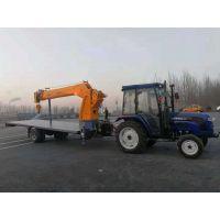 小型8吨平板吊车/全新设计拖拉机自制平板吊机/ 拖拉机牵引吊车