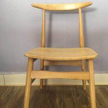 进口白橡餐椅子系列 牛角实木椅子 中式餐椅 餐馆面馆餐椅子