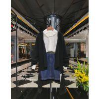 时尚潮牌洛呗一18新款秋冬装女装折扣走份批发女装货源