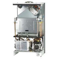 煤改气工程用壁挂式天然气采暖炉家庭地暖取暖生活热水两用壁挂炉20KW