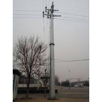 福州市益瑞钢杆厂家110kv双回路30度转角电力钢杆 耐张钢杆 输电钢杆 金属钢杆 钢桩基础 基业