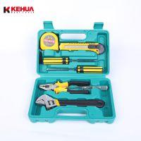 8件五金工具箱家用套装螺丝刀扳手家庭维修水电工工具包组合批发