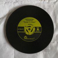 厂家供应 PVC杯垫 复古唱碟杯垫 CD光碟餐垫 可印刷LOGO