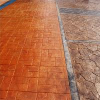 包工包料施工压花地坪材料压印地坪模具混凝土压花地坪