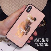 厂家直销苹果手机壳 闪粉电镀镶钻手机套挂绳潮牌 iPhonex保护套