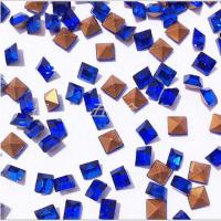 厂家批发1.5*1.5深蓝尖底异形方钻玻璃异形水钻 眼镜戒指饰品配件