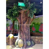 松涛工艺大型室内仿真榕树景观装饰 人造塑料景观树订做厂家直销