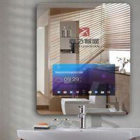 鑫飞XF-GG22MM 21.5寸黑色电容屏一体机方形化妆台魔镜卫浴试衣间智能触摸屏深圳市镜面广告机