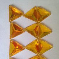 环保透明三角形亚克力钻手工diy饰品配件平底切面规格齐全批发