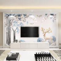 8D电视背景墙壁纸大气3D5D立体简约现代墙纸客厅影视墙布装饰壁画