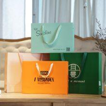 西餐厅外卖纸袋定做 印刷食品级西餐厅打包纸袋 北京手提袋定做