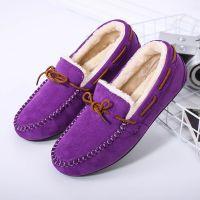 冬季新款加绒女鞋棉鞋毛毛女士豆豆鞋平底鞋A668