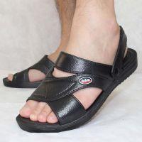 夏季塑料耐磨厚底凉鞋男士爸爸休闲塑胶沙滩鞋防水防滑老人凉拖鞋