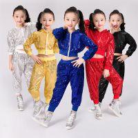 批发六一儿童演出服新款街舞爵士舞亮片表演服中小学生啦啦操服装