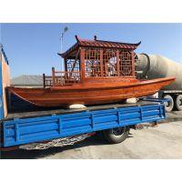湖南江西哪里有厂家供应木质单亭船 景区观光旅游船 仿古画舫船 餐饮休闲船