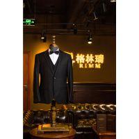 成都西服套装男士商务修身正装 羊毛西服男商务正装 单排两粒扣平驳领西装定制