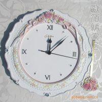 小额批发 白色高档欧式静音挂钟 日韩风格 特大客厅创意钟表