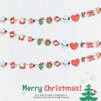 韩版圣诞纸彩旗三角纸彩旗 生日节庆聚会婚庆纸质装饰品拉花