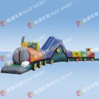 火车内部大冒险 充气儿童通道 设计各种不同探险城堡障碍支持定制