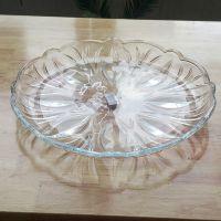 透明玻璃果盘欧式酒店酒吧KTV用品果盘装饰高档时尚水果盘批发