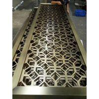 武汉欧式不锈钢隔断 不锈钢屏风样式效果图 德和厂家生产加工屏风
