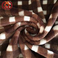 100%涤纶印花法兰绒面料用于家纺