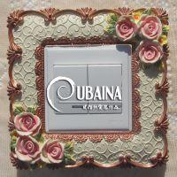 树脂开关贴墙贴创意欧式花纹插座贴工艺品开关套新款家居装饰品