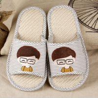 日韩式夏季家居亚麻拖鞋男女情侣防滑拖鞋室内木地板居家拖鞋批发