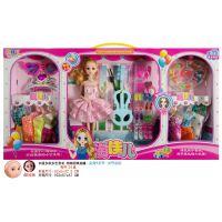 厂家直销过家家玩具 4D眨眼-实身9关节 换装娃娃