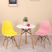 北欧创意家用圆桌咖啡馆洽谈桌椅组合接待谈判会客简约休闲餐桌椅