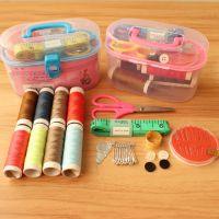 家用针线盒 布艺缝纫针套装针线包多功能便携整理百宝箱
