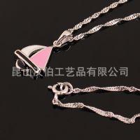 吊坠坠子定制生产 烤漆项链坠子定做 多色可选择吊坠