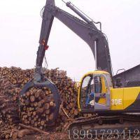 北奕机械 抓木器 加藤挖掘机钩机液压360度旋转 回转式抓木器