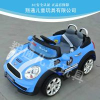 宝马mini迷你儿童电动汽车四轮双驱遥控 小孩玩具车儿童可坐童车