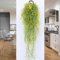 春季常青藤绢花装饰藤条管道藤蔓绿植植物壁挂客厅绿萝田园仿真