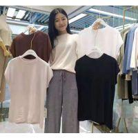 广东东莞虎门服装厂家五千件休闲针织短袖上衣低价处理 价格便宜 低至五元一件
