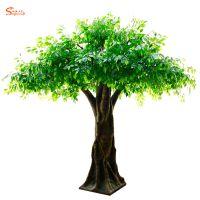 室内仿真榕树大型仿真树厂家 粗杆假榕树批发 假树定制
